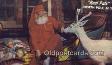 hol003473 - North Pole New York, USA Santa Claus Postcard, Chirstmas Post Card Old Vintage Antique Carte, Postal Postal