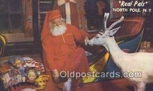 hol003478 - North Pole New York, USA Santa Claus Postcard, Chirstmas Post Card Old Vintage Antique Carte, Postal Postal