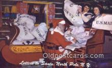 hol003479 - North Pole New York, USA Santa Claus Postcard, Chirstmas Post Card Old Vintage Antique Carte, Postal Postal
