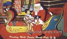 hol003480 - North Pole New York, USA Santa Claus Postcard, Chirstmas Post Card Old Vintage Antique Carte, Postal Postal