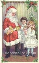hol003481 - Santa Claus Postcard, Chirstmas Post Card Old Vintage Antique Carte, Postal Postal