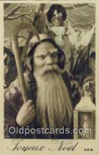 hol003482 - Santa Claus Postcard, Chirstmas Post Card Old Vintage Antique Carte, Postal Postal