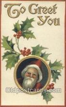 hol003485 - Santa Claus Postcard, Chirstmas Post Card Old Vintage Antique Carte, Postal Postal