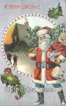 hol003486 - Santa Claus Postcard, Chirstmas Post Card Old Vintage Antique Carte, Postal Postal