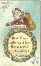 hol003487 - Santa Claus Postcard, Chirstmas Post Card Old Vintage Antique Carte, Postal Postal