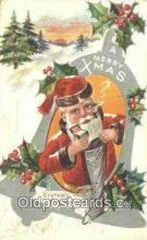 hol003488 - Santa Claus Postcard, Chirstmas Post Card Old Vintage Antique Carte, Postal Postal