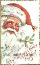 hol003489 - Santa Claus Postcard, Chirstmas Post Card Old Vintage Antique Carte, Postal Postal