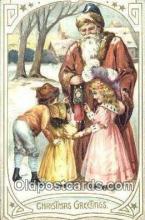 hol003491 - Santa Claus Postcard, Chirstmas Post Card Old Vintage Antique Carte, Postal Postal