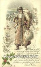 hol003492 - Santa Claus Postcard, Chirstmas Post Card Old Vintage Antique Carte, Postal Postal