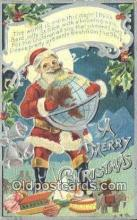hol003493 - Santa Claus Postcard, Chirstmas Post Card Old Vintage Antique Carte, Postal Postal