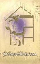 hol003495 - Santa Claus Postcard, Chirstmas Post Card Old Vintage Antique Carte, Postal Postal