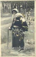 hol003498 - Santa Claus Postcard, Chirstmas Post Card Old Vintage Antique Carte, Postal Postal