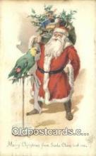 hol003502 - Santa Claus Postcard, Chirstmas Post Card Old Vintage Antique Carte, Postal Postal