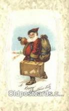 hol003504 - Santa Claus Postcard, Chirstmas Post Card Old Vintage Antique Carte, Postal Postal
