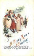 hol003516 - Santa Claus Postcard, Chirstmas Post Card Old Vintage Antique Carte, Postal Postal