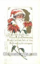 hol003517 - Santa Claus Postcard, Chirstmas Post Card Old Vintage Antique Carte, Postal Postal