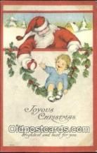 hol003518 - Santa Claus Postcard, Chirstmas Post Card Old Vintage Antique Carte, Postal Postal