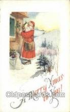 hol003520 - Santa Claus Postcard, Chirstmas Post Card Old Vintage Antique Carte, Postal Postal