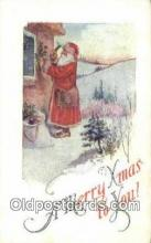 hol003521 - Santa Claus Postcard, Chirstmas Post Card Old Vintage Antique Carte, Postal Postal