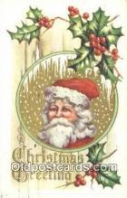 hol003523 - Santa Claus Postcard, Chirstmas Post Card Old Vintage Antique Carte, Postal Postal