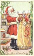hol003524 - Santa Claus Postcard, Chirstmas Post Card Old Vintage Antique Carte, Postal Postal