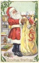 hol003525 - Santa Claus Postcard, Chirstmas Post Card Old Vintage Antique Carte, Postal Postal
