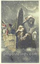 hol003526 - Santa Claus Postcard, Chirstmas Post Card Old Vintage Antique Carte, Postal Postal