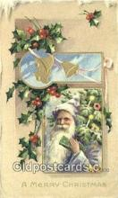 hol003528 - Santa Claus Postcard, Chirstmas Post Card Old Vintage Antique Carte, Postal Postal