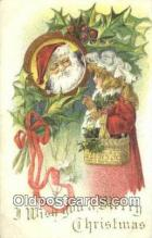 hol003530 - Santa Claus Postcard, Chirstmas Post Card Old Vintage Antique Carte, Postal Postal