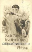 hol003531 - Santa Claus Postcard, Chirstmas Post Card Old Vintage Antique Carte, Postal Postal