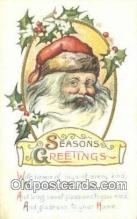 hol003532 - Santa Claus Postcard, Chirstmas Post Card Old Vintage Antique Carte, Postal Postal