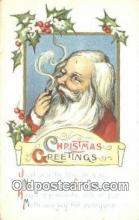 hol003533 - Santa Claus Postcard, Chirstmas Post Card Old Vintage Antique Carte, Postal Postal