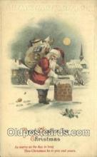 hol003535 - Santa Claus Postcard, Chirstmas Post Card Old Vintage Antique Carte, Postal Postal