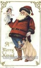 hol003536 - Santa Claus Postcard, Chirstmas Post Card Old Vintage Antique Carte, Postal Postal