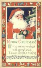hol003537 - Santa Claus Postcard, Chirstmas Post Card Old Vintage Antique Carte, Postal Postal