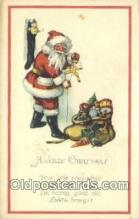 hol003538 - Santa Claus Postcard, Chirstmas Post Card Old Vintage Antique Carte, Postal Postal