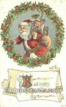 hol003540 - Santa Claus Postcard, Chirstmas Post Card Old Vintage Antique Carte, Postal Postal
