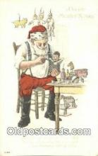 hol003541 - Santa Claus Postcard, Chirstmas Post Card Old Vintage Antique Carte, Postal Postal