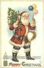 hol003543 - Santa Claus Postcard, Chirstmas Post Card Old Vintage Antique Carte, Postal Postal