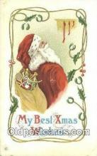 hol003545 - Santa Claus Postcard, Chirstmas Post Card Old Vintage Antique Carte, Postal Postal
