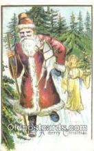 hol003546 - Santa Claus Postcard, Chirstmas Post Card Old Vintage Antique Carte, Postal Postal