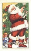 hol003547 - Santa Claus Postcard, Chirstmas Post Card Old Vintage Antique Carte, Postal Postal