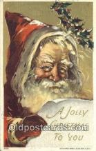 hol003553 - Santa Claus Postcard, Chirstmas Post Card Old Vintage Antique Carte, Postal Postal