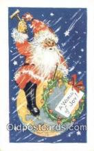 hol003556 - Santa Claus Postcard, Chirstmas Post Card Old Vintage Antique Carte, Postal Postal