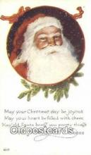 hol003557 - Santa Claus Postcard, Chirstmas Post Card Old Vintage Antique Carte, Postal Postal