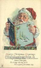 hol003560 - Santa Claus Postcard, Chirstmas Post Card Old Vintage Antique Carte, Postal Postal
