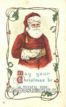 hol003568 - Santa Claus Postcard, Chirstmas Post Card Old Vintage Antique Carte, Postal Postal