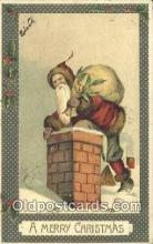 hol003569 - Santa Claus Postcard, Chirstmas Post Card Old Vintage Antique Carte, Postal Postal
