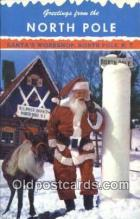 hol003576 - North Pole New York, USA Santa Claus Postcard, Chirstmas Post Card Old Vintage Antique Carte, Postal Postal