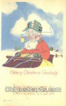 hol003583 - Santa Claus Postcard, Chirstmas Post Card Old Vintage Antique Carte, Postal Postal